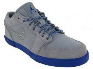 NIKE AIR JORDAN RETRO V.1 CASUAL SHOES 14 (STEALTH/OLD ROYAL): Shoes
