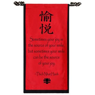 Cotton Joy Symbol Thich Nhat Hanh Quote Scroll (Indonesia)