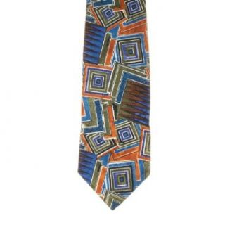 Dino Cellian Mens Patterned Polyester Neck Tie Olive One