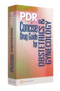 PDR Concise Drug Guide for OB/GYN 2009 (Paperback)