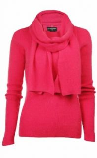 Sutton Studio Womens Cashmere Thermal Sweater with Scarf