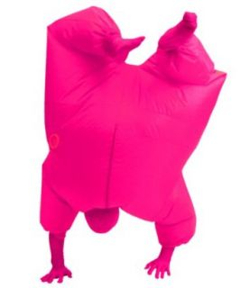 Inflatable Adult Chub Suit Costume (Pink): Clothing