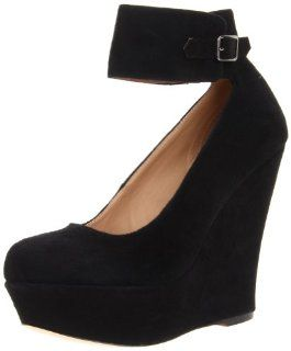 Steve Madden Womens Pattii Pump,Black Suede,10 M US Shoes