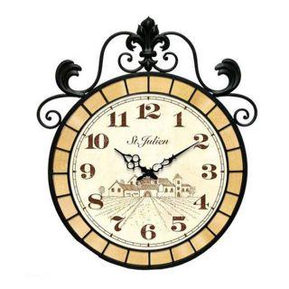 St. Julien 22 inch Wrought Iron Wall Clock