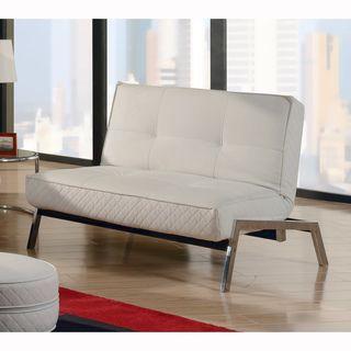 Abbyson Living Venice White Convertible Euro Chair Lounger