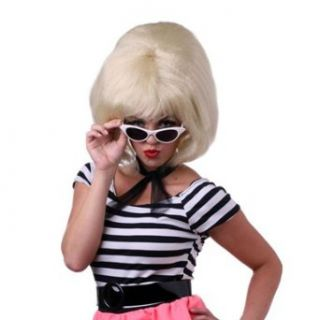Womens Blonde Bouffant Halloween Costume Wig Clothing