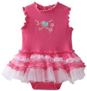 Babyworks Baby Girls Newborn Tutu Creeper Shirt, Pink, 3 6