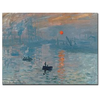 Claude Monet Impression Sunrise Canvas Art