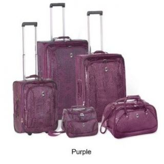Travel Concepts  Croco 5 Piece Luggage Set (Purple