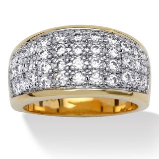 Ultimate CZ 14k Gold Overlay Pave set Cubic Zirconia Ring