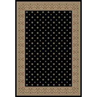 Dallas Formal Black Area Rug (3 11 x 5 3)
