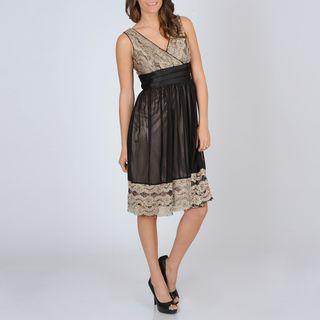 Richards Womens Lace Trim Party Dress