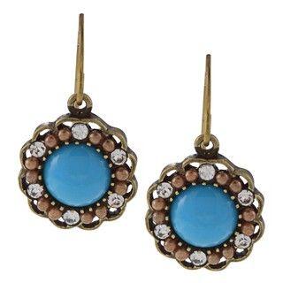 Carolee Goldtone Paradise Found Flower Drop Earrings