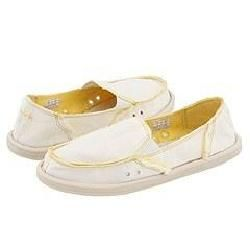 Sanuk Womens Plain Jane White Athletic Shoes