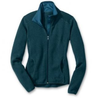 Eddie Bauer Sweater Fleece Full Zip Jacket, Heather Teal