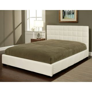 Abbyson Living Torrance White Bi cast Leather Queen size Bed Today $