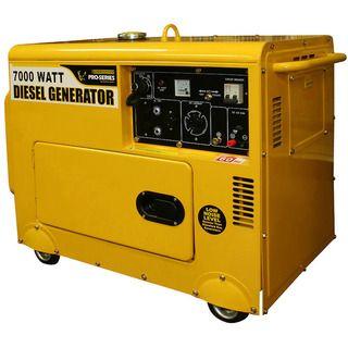 Buffalo Tools Pro Series 7000 watt Silent Diesel Portable Generator