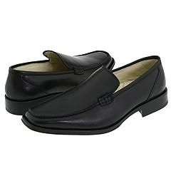 Kenneth Cole New York Call Out Black Leather Loafers