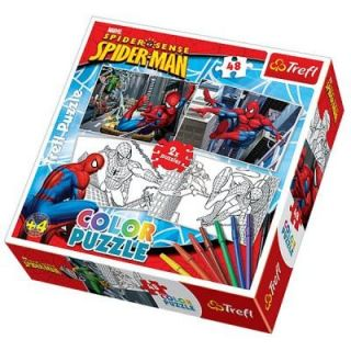 Puzzle 2 x 48 pièces   Spiderman  Color puzzle   2 puzzles de 48