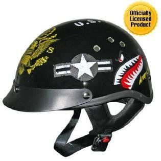 DOT Outlaw Officially Licensed Army Half Motorcycle Helmet