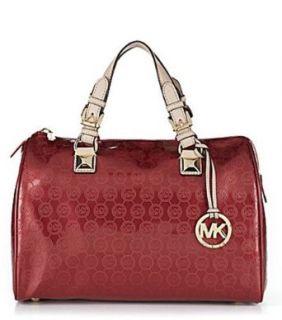 Michael Kors Grayson Womens Handbag Satchel Red Clothing
