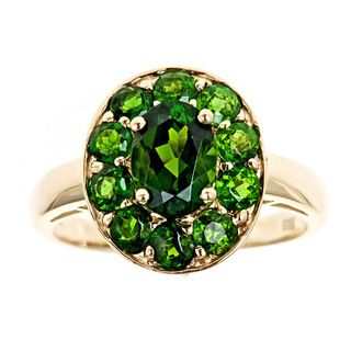 Yach 14k Yellow Gold Chrome Diopside Ring