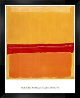 Mark Rothko Number 5 (Number 22) Framed Art
