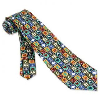 Black Silk Tie  Medical Professional Necktie Clothing