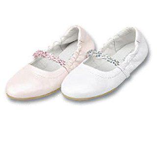 Little Girls Jeweled Flower Slipper Dress Shoes 5 4 IM Link Shoes