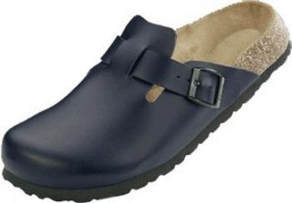 Clog from Birko Flor in Dark Blue with a narrow insole Shoes