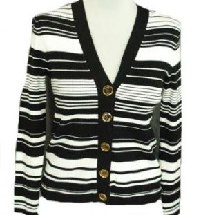 MICHAEL Michael Kors Ribbed Cardigan Sweater Black PM