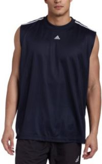 adidas Mens 3 Stripes Sleeveless Tank Top Clothing