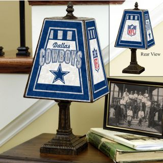 Dallas Cowboys 14 inch Art Glass Lamp