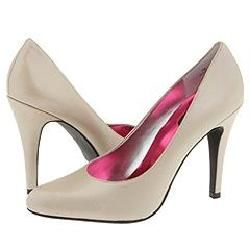 rsvp Phoebe (Cushioned by Foot Petals) Taupe Pearl Kid Pumps/Heels
