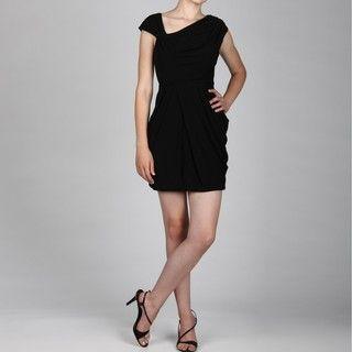 Jessica Simpson Womens Asymmetrical Neck Dress