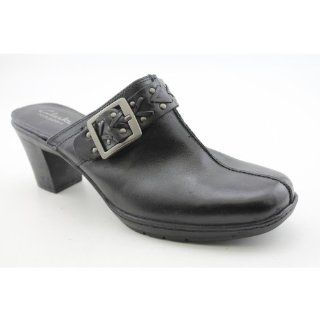 Mirabelle Holly Womens Size 8.5 Black Leather Mules Shoes Shoes