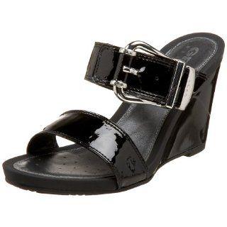 Geox Womens Donna Nicole C Wedge,Black,35 EU (US Womens 5 M) Shoes