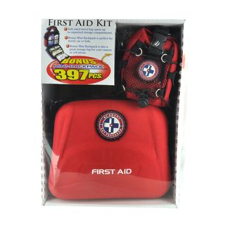 First Aid Travel Kit with Mini Backpack (397 pieces)