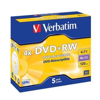 Verbatim DVD+RW 4.7 Go 4x (5)   Achat / Vente CD   DVD   BLU RAY