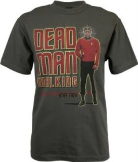Star Trek Red Shirt Dead Man Walking Mens T Shirt