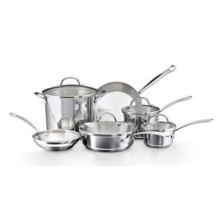 Tulip Shaped Stainless Steel 10 piece Cookware Set