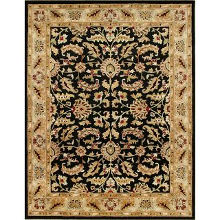 Hand made Black Taj Mahal Persian Wool Rug (8 x 10)