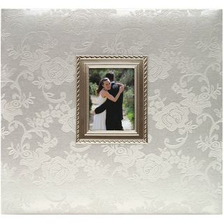 Floral Fabric With Metal Frame Postbound Album 12X12 Wedding