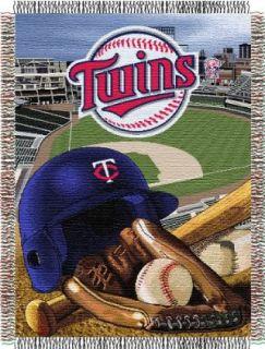 MLB Minnesota Twins Acrylic Tapestry Throw Blanket Sports