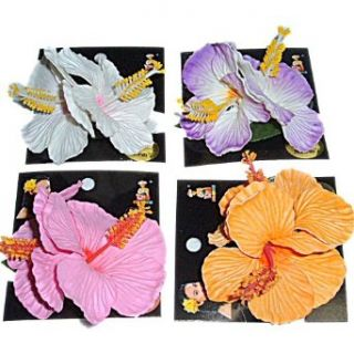 KOLOHE DELUXE HIBISCUS HAIR FLOWER CLIP  MADE IN HAWAII