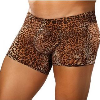 Male Power Leopard print boxer briefs with comfortable