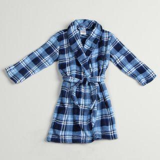 Calvin Klein Boys Blue Plaid Robe
