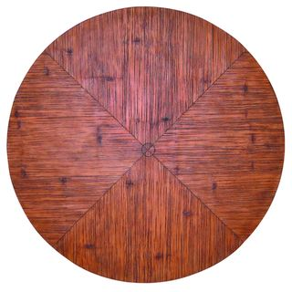 Outdoor Faux Crushed Bamboo 60 inch Round Table Top