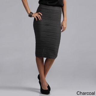 Tabeez Womens Textured Stretch High waist Pencil Skirt