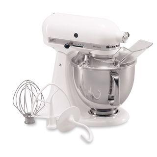 KitchenAid RRK150WH White 5 quart Artisan Tilt Head Stand Mixer